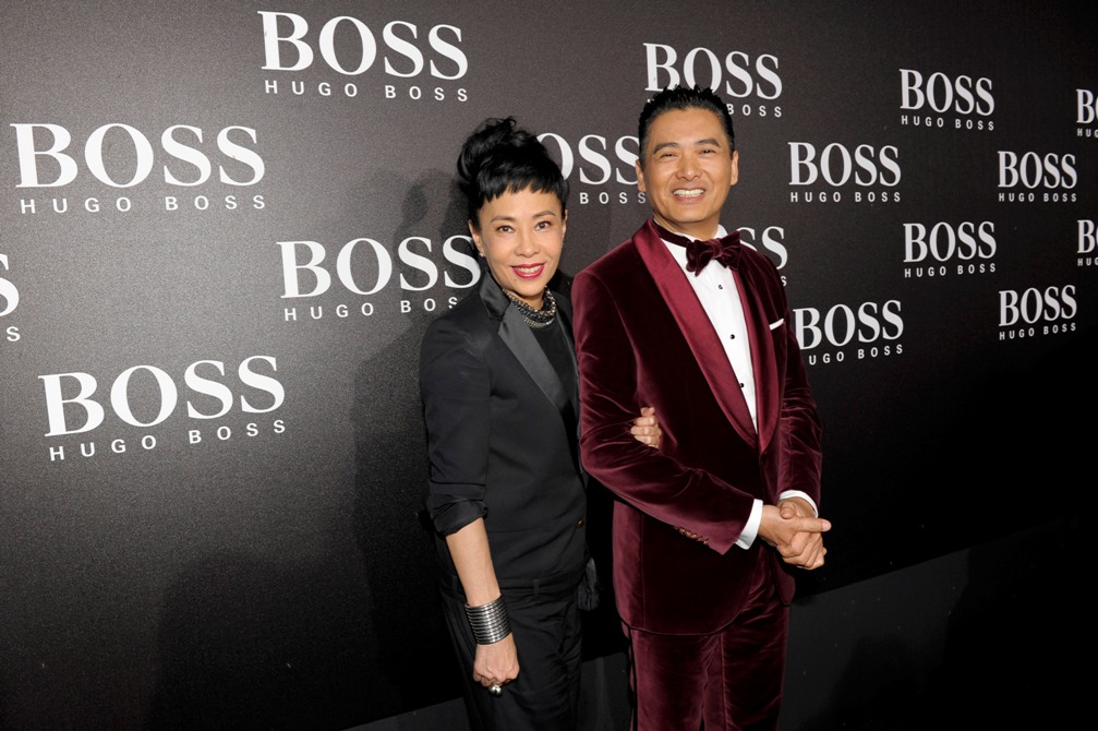 """Jasmine Chow and Chow Yun-Fat (Outfit: BOSS Selection)BOSS Black / BOSS Selection Fashion Show and Party Beijing / Fall / Winter 2012 Collection Womenswear and Menswear at  """"China National Agricultural Exhibition Center"""", Beijing, 18.05.2012Agency People Image (c.) Michael Tinnefeld"""