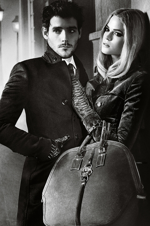 V2sBurberry Autumn Winter 2012 Ad Campaign featuring Gabriella Wilde and Roo Panes3