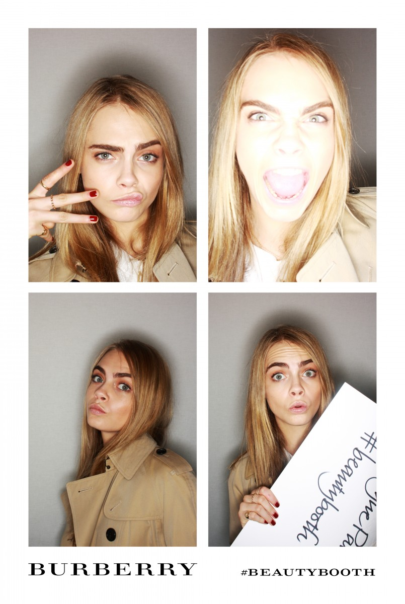 burberry beauty booth at the burberry prorsum womenswear autumn_winter 2013 show - cara delevingne