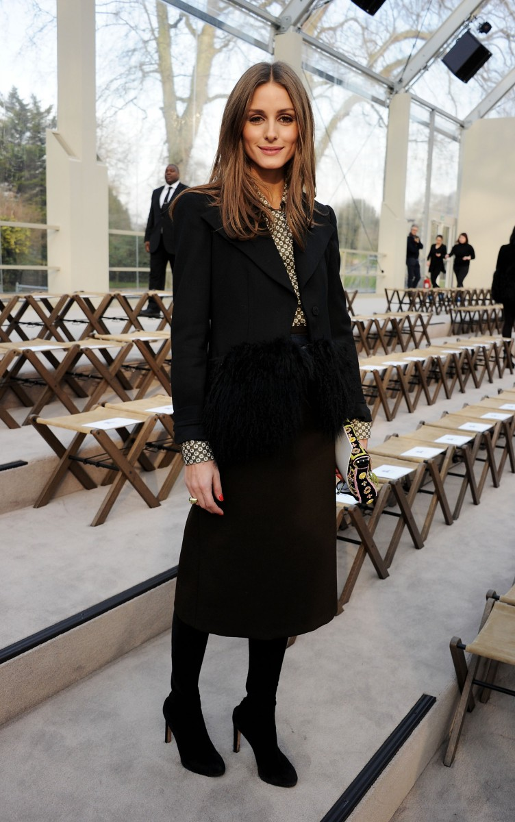 olivia palermo wearing burberry at the burberry prorsum womenswear autumn winter 2013 show