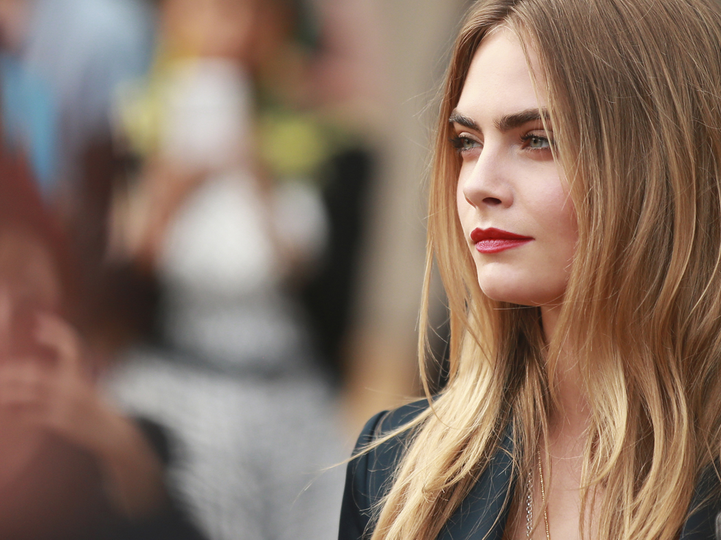 sBurberry Beauty VIP - SS15 WW Show - Cara Delevingne