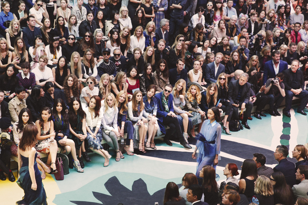 sFront Row at the Burberry Prorsum Womenswear Spring Summer 2015 Show